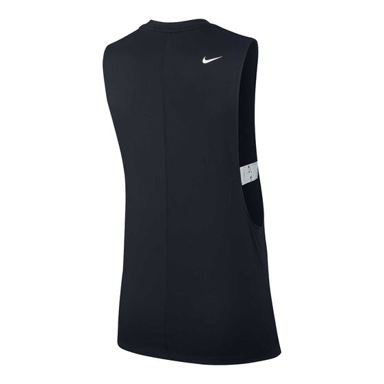 Nike Womens Pro Graphic Training Tank, Black, rebel_hi-res