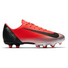 Nike Mercurial Vapor 12 Academy CR7 Junior Football Boots Red / Black US 1, Red / Black, rebel_hi-res
