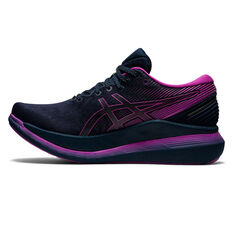 Asics GlideRide 2 Lite Show Womens Running Shoes, Black/Purple, rebel_hi-res