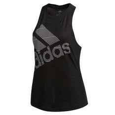 adidas Womens Badge Of Sport Tank, Black, rebel_hi-res