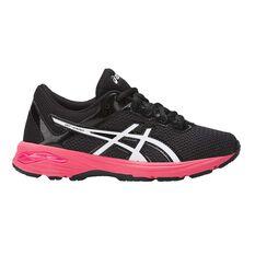 Asics GT 1000 6 Kids Running Shoes Black / Pink US 1, Black / Pink, rebel_hi-res