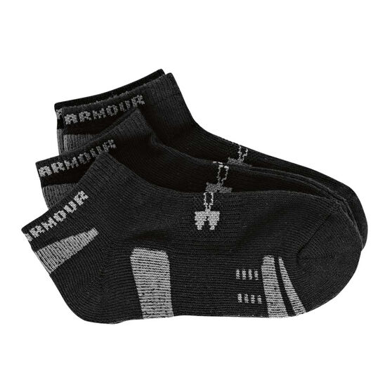 Under Armour Kids HeatGear No Show Socks Black, , rebel_hi-res