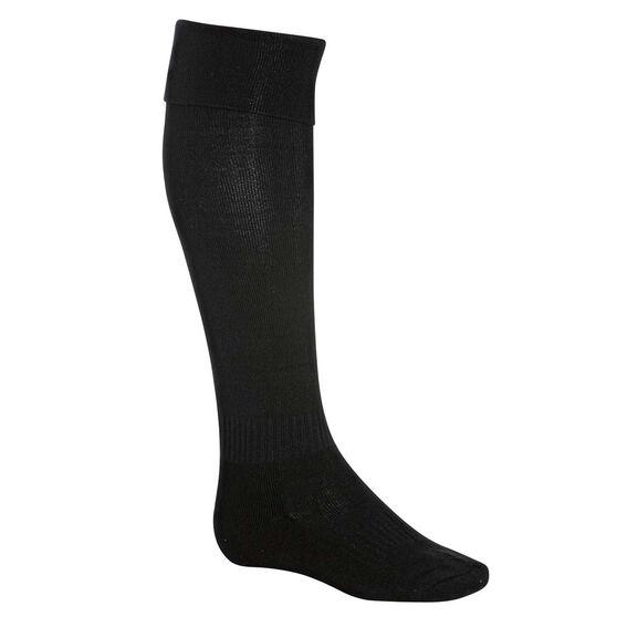 Burley Football Socks, Black, rebel_hi-res
