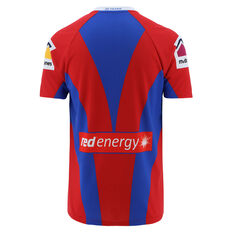 Newcastle Knights 2021 Womens Heritage Jersey Red/Blue 8, Red/Blue, rebel_hi-res