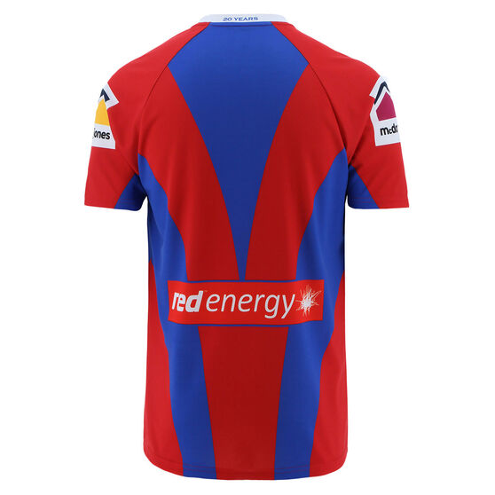 Newcastle Knights 2021 Womens Heritage Jersey, Red/Blue, rebel_hi-res