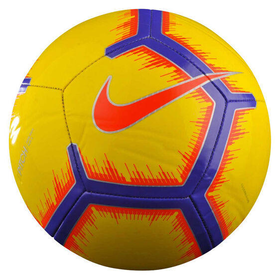 Nike Pitch FA 18 Soccer Ball, Yellow / Red, rebel_hi-res