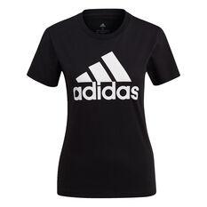 adidas Womens Essentials Logo Tee Black XS, Black, rebel_hi-res