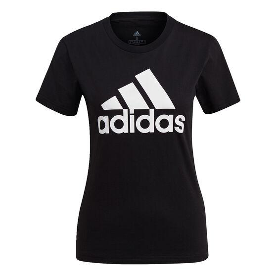 adidas Womens Essentials Logo Tee, Black, rebel_hi-res