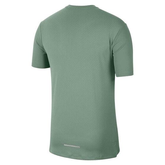 Nike Mens Dri-FIT Miler Future Fast Tee Green S, Green, rebel_hi-res