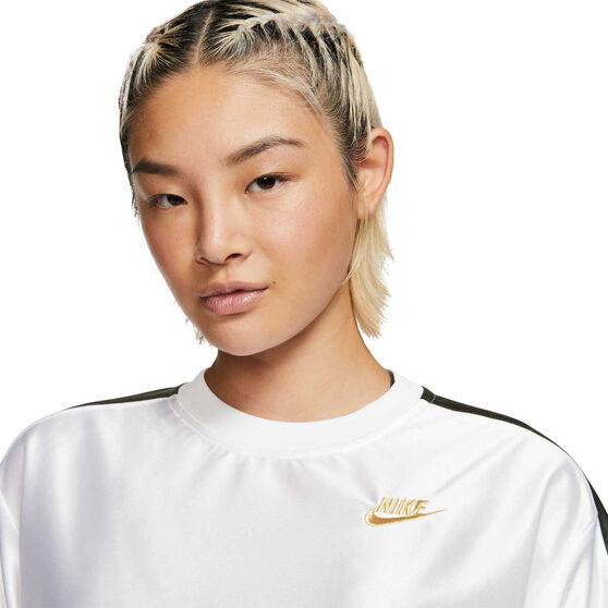 Nike Womens Sportswear Glam Dunk Tee, White, rebel_hi-res