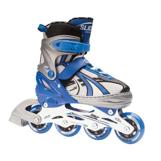 Blade X Slider Adjustable Boys Skates Black / Blue S, Black / Blue, rebel_hi-res