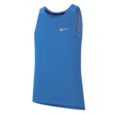 Nike Mens Breathe Rise 365 Running Tank Blue S, Blue, rebel_hi-res