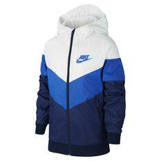 Nike Boys Windrunner Jacket White / Royal Blue XS, White / Royal Blue, rebel_hi-res