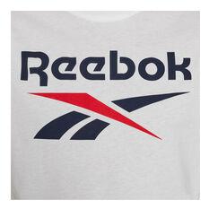 Reebok Mens Big Logo Tee, White, rebel_hi-res