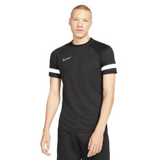 Nike Mens Dri-FIT Academy Soccer Tee Black XS, Black, rebel_hi-res
