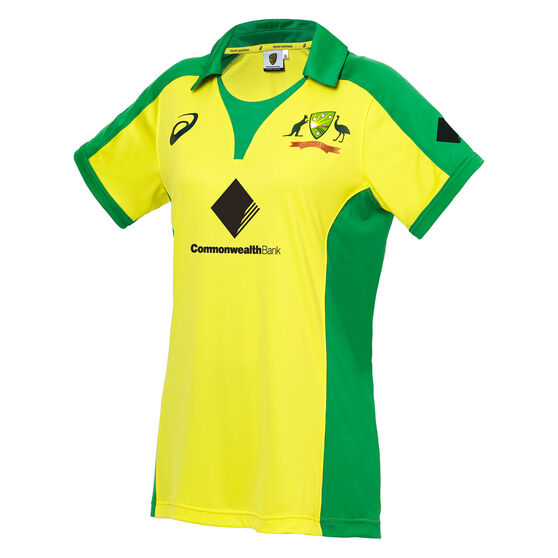 Cricket Australia 2019/20 Womens Home ODI Replica Shirt, Yellow, rebel_hi-res