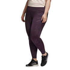 adidas Womens Believe This Glam On Tights Plus, Purple, rebel_hi-res