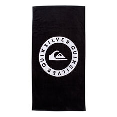 Quiksilver Logo Towel Black OSFA, Black, rebel_hi-res
