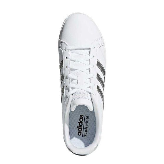 new concept a8d44 ed5ea adidas VS Coneo QT Womens Casual Shoes White   Silver US 11, White   Silver