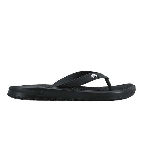 Nike Solay Mens Thongs, Black / White, rebel_hi-res