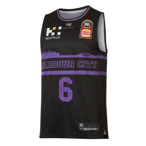 Sydney Kings Andrew Bogut City Edition 2019/20 Mens Jersey, Black / Purple, rebel_hi-res