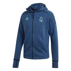 Real Madrid CF 2019/20 Mens Z.N.E 3.0 Jacket Blue S, Blue, rebel_hi-res