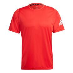 adidas Mens Freelift Sport Ultimate Tee Red XS, Red, rebel_hi-res