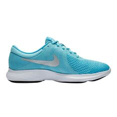 Nike Revolution 4 Girls Running Shoes Aqua / Blue US 4, Aqua / Blue, rebel_hi-res