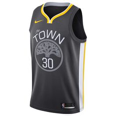 Nike Golden State Warriors Stephen Curry Alternate 2019 Mens Swingman Jersey Black S, Black, rebel_hi-res