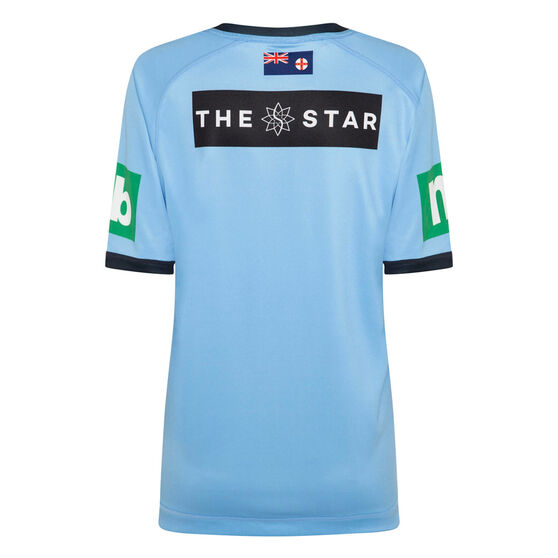 NSW Blues State of Origin 2020 Womens Home Jersey, Blue, rebel_hi-res