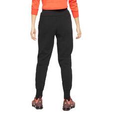 Nike Womens Sportswear Tech Fleece Track Pants Black L, Black, rebel_hi-res