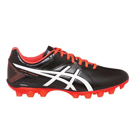 Asics Lethal Speed Mens Football Boots, Black / Coral, rebel_hi-res