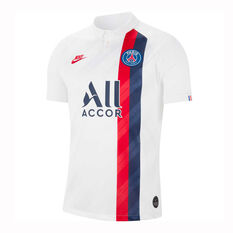 Paris Saint Germain FC 2019/20 Mens 3rd Jersey White S, White, rebel_hi-res