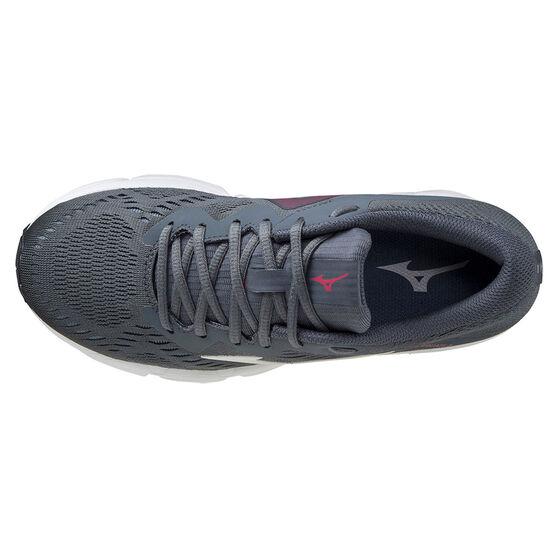Mizuno Wave Equate 5 Womens Running Shoes, Grey/Pink, rebel_hi-res