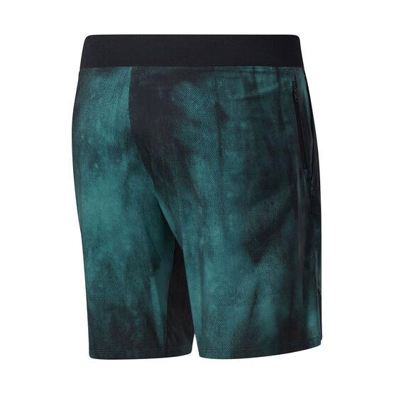 Reebok Mens Epic AOP Shorts, Green, rebel_hi-res