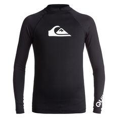 Quiksilver Mens All Time Long Sleeve Rash Vest Black 8, Black, rebel_hi-res