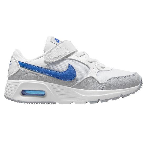 Nike Air Max SC Kids Casual Shoes, White/Blue, rebel_hi-res