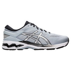 Asics GEL Kayano 26 4E Mens Running Shoes Grey/Silver US 9, Grey/Silver, rebel_hi-res