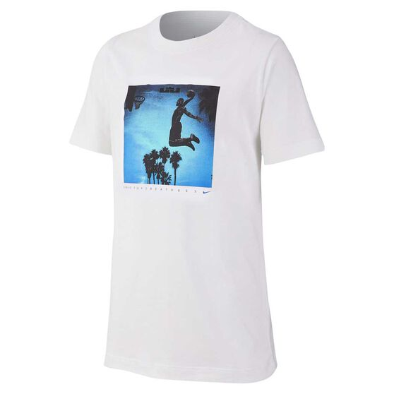 Nike Dri-FIT Boys Basketball Tee, White, rebel_hi-res