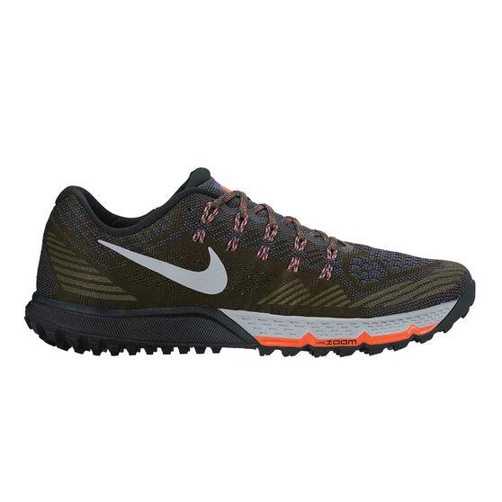f5636534f7c26 Nike Air Zoom Terra Kiger 3 Mens Trail Trail Running Shoes Khaki   Grey US  8.5