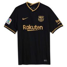 FC Barcelona 2020/21 Mens Away Jersey Black S, Black, rebel_hi-res