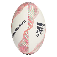 adidas New Zealand Rugby Union Ball White / Red 5, White / Red, rebel_hi-res