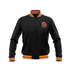 Brisbane Broncos 2019 Mens Club Varsity Jacket Black, Black, rebel_hi-res
