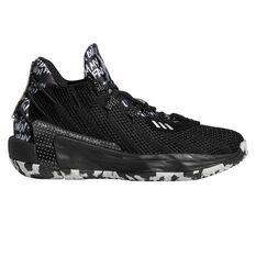 adidas Dame 7 Kids Basketball Shoes Black US 4, Black, rebel_hi-res