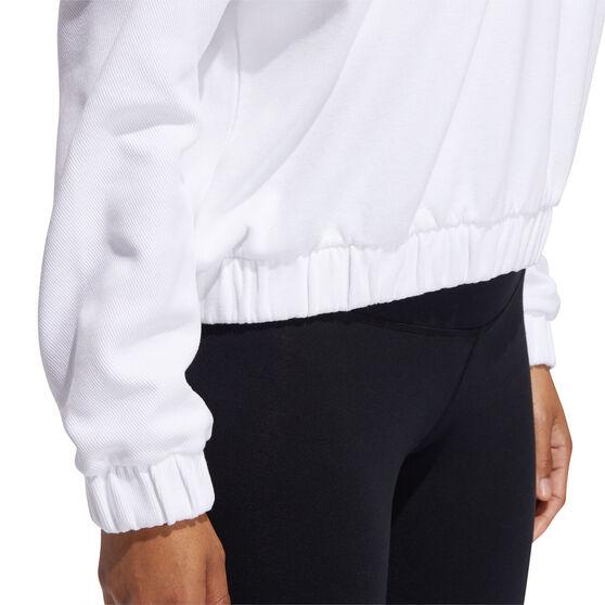 adidas Womens Rib Sweatshirt, White, rebel_hi-res