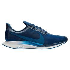 Nike Air Zoom Pegasus 36 Turbo Mens Running Shoes Navy US 8, Navy, rebel_hi-res