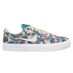 Nike SB Charge Canvas Premium Kids Skate Shoes Blue/Pink US 4, Blue/Pink, rebel_hi-res