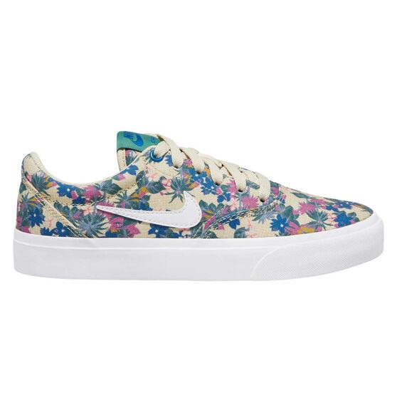 Nike SB Charge Canvas Premium Kids Skate Shoes, Blue/Pink, rebel_hi-res