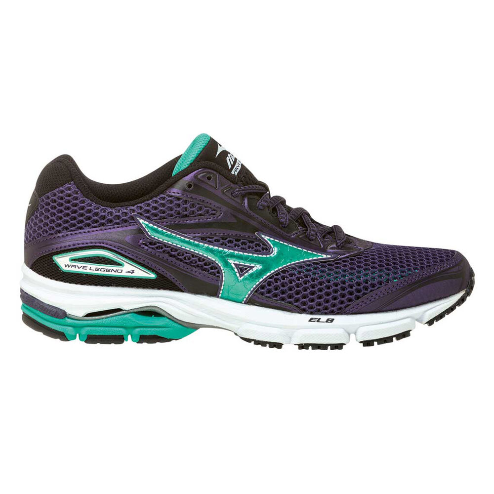 Mizuno Wave Legend 4 Womens Running Shoes Purple   Green US 7 ... 6056dd84989