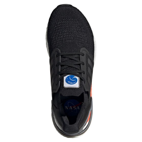 adidas Ultraboost 20 Space Race Mens Running Shoes, Black, rebel_hi-res
